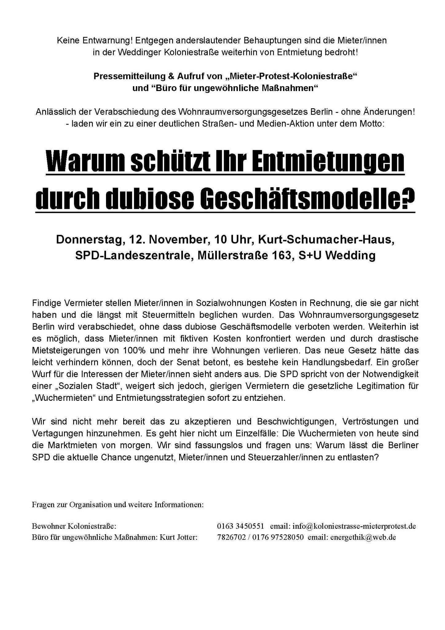Koloniestr_Protest_SPD-Zentrale_12-11-2015