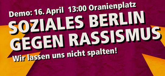 Soziales Berlin für Alle! Wir lassen uns nicht spalten!