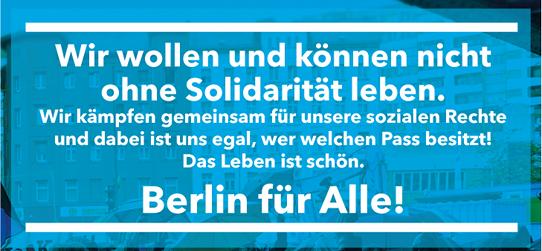 Berlin für Alle! Es ist Zeit für eine soziale Offensive!